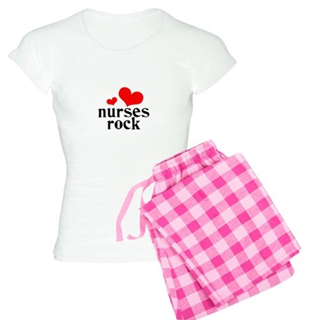 nurses rock (red/black) Women's Light Pajamas