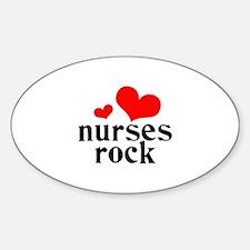 nurses rock (red/black) Decal