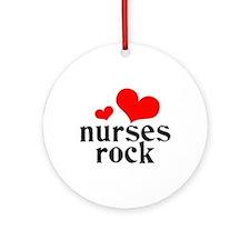 nurses rock (red/black) Ornament (Round)