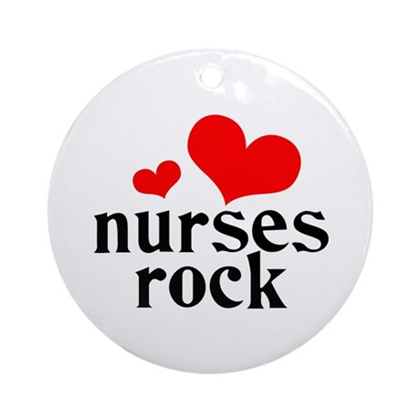 nurses rock (red/black) Ornament (Round)