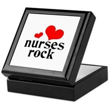 nurses rock (red/black) Keepsake Box