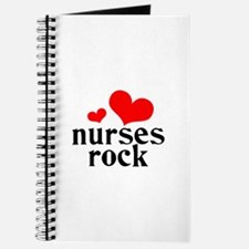 nurses rock (red/black) Journal