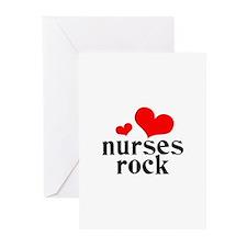 nurses rock (red/black) Greeting Cards (Pk of 10)
