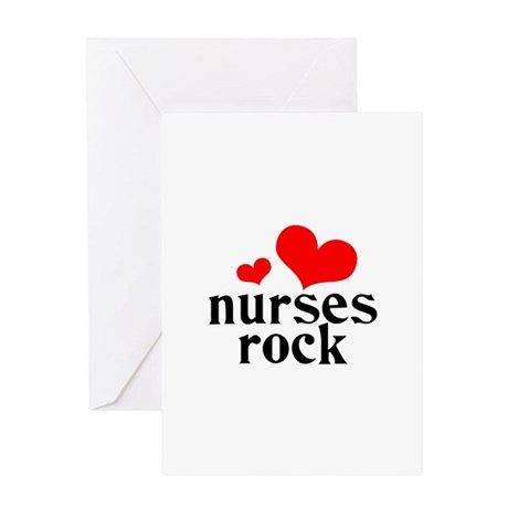 nurses rock (red/black) Greeting Card