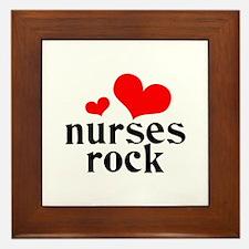 nurses rock (red/black) Framed Tile
