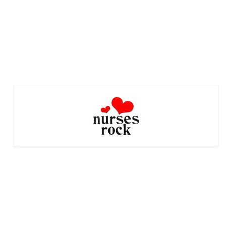 nurses rock (red/black) 42x14 Wall Peel