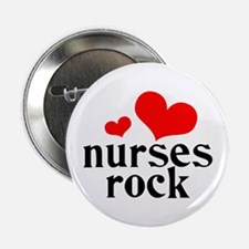 "nurses rock (red/black) 2.25"" Button"