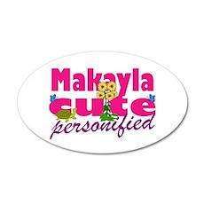 Cute Makayla 38.5 x 24.5 Oval Wall Peel