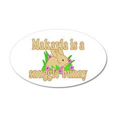 Makayla is a Snuggle Bunny 22x14 Oval Wall Peel