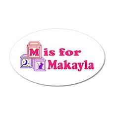 Baby Blocks Makayla 22x14 Oval Wall Peel