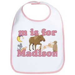 M is for Madison Bib