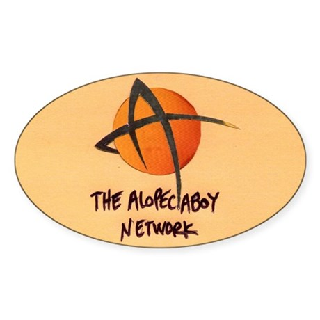 Oval AlopeciaBoy Stickers! (pack of 8)