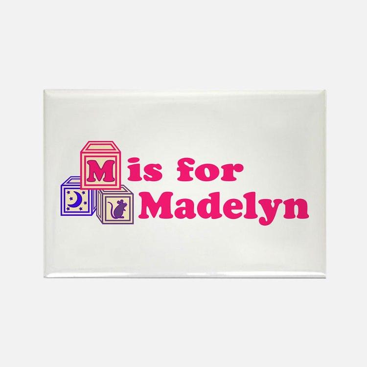 Baby Blocks Madelyn Rectangle Magnet