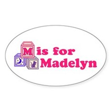 Baby Blocks Madelyn Decal