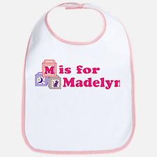 Baby Name Blocks - Madelyn Bib