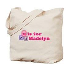 Baby Name Blocks - Madelyn Tote Bag