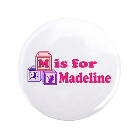 "Baby Blocks Madeline 3.5"" Button"