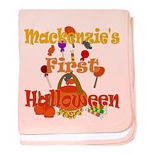 First Halloween Mackenzie baby blanket