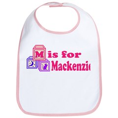 Baby Name Blocks - Mackenzie Bib