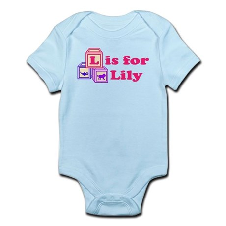 Baby Name Blocks - Lily Infant Bodysuit