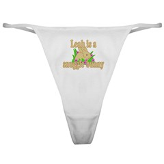 Leah is a Snuggle Bunny Classic Thong