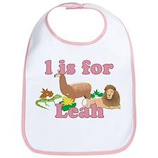 L is for Leah Bib