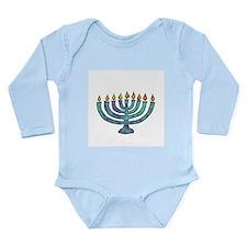Menorah Long Sleeve Infant Bodysuit