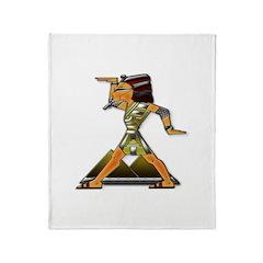 Funky Egyptian Dance Move Throw Blanket