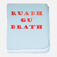 Gaelic Ruadh Gu Brath baby blanket