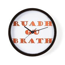 Gaelic Ruadh Gu Brath Wall Clock