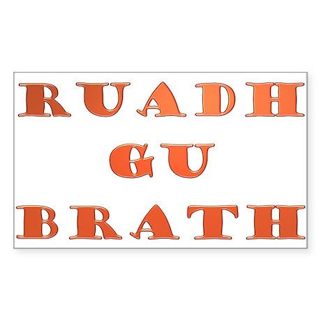Gaelic Ruadh Gu Brath Sticker (Rectangle)