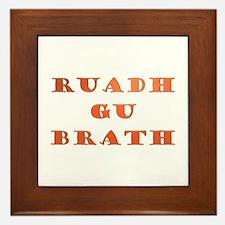 Gaelic Ruadh Gu Brath Framed Tile