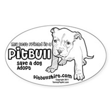 My Best Friend Is A Pitbull Decal