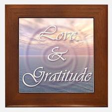 Love and Gratitude Framed Tile
