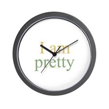 I am pretty Wall Clock