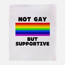Not Gay Throw Blanket