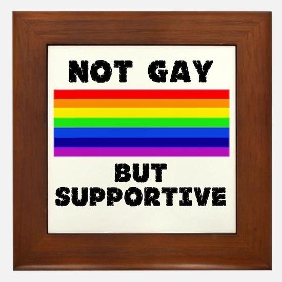 Not Gay Framed Tile