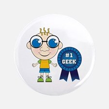 "Number One Geek Boy 3.5"" Button"