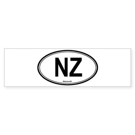 New Zealand (NZ) euro Bumper Sticker