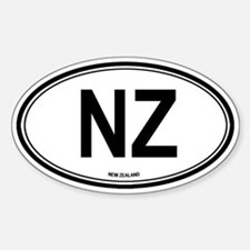 New Zealand (NZ) euro Oval Decal
