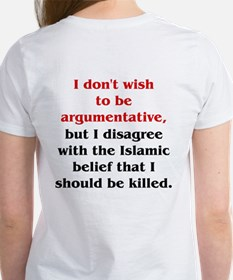 Disagree with Islam Women's T-Shirt