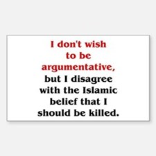 Disagree with Islam Rectangle Decal