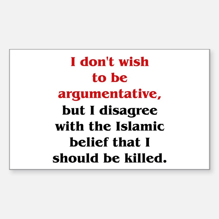 Disagree with Islam Rectangle Stickers