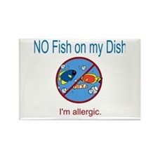 Funny Food allergy Rectangle Magnet (10 pack)