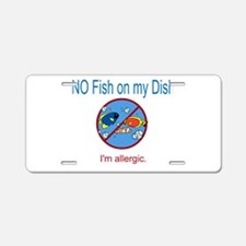 Cute Allergic Aluminum License Plate