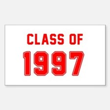 Class of 1997 Red Decal