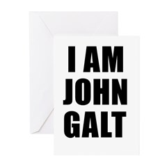 I Am John Galt Greeting Cards (Pk of 10)