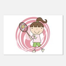 Girl Playing Tennis Postcards (Package of 8)