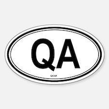 Qatar (QA) euro Oval Decal