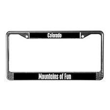 Colorado Mountains of Fun License Plate Frame
